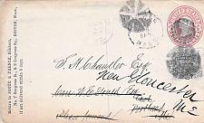 Buy U58 Boston to Portland ME, Forward to New Gloucester Cover, 2c Added Franking
