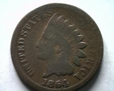 Buy 1864 BRONZE INDIAN CENT PENNY GOOD G NICE ORIGINAL COIN BOBS COINS FAST SHIPMENT