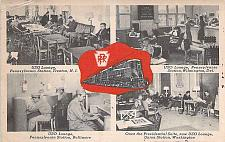 Buy WW II Pennsylvania Railroad USO Lounges Vintage Unused Postcard