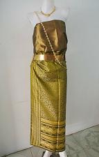 Buy Thai Myanmar Synthetic Silk Fabric For Top Skirt Longyi dress Costume Clothing