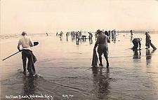 Buy On Clam Beach, Redwood, Highway Real Photo Vintage Postcard
