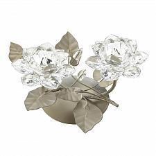 Buy *17424U - Crystaline Flower Centerpiece Grey Base Tea Light Candle Holder