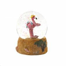 Buy *18595U - Beach Party Pink Flamingo Snow Globe Figurine