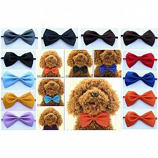 Buy Adorable Dog Cat Pet Puppy Kitten Lattice Fashion Bow Tie Clothes Necktie Collar