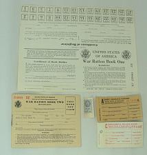 Buy Vintage Lot WWII Unused Ration Books Book One & Two A Basic Mileage C Supplement