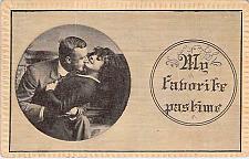 Buy My Favorite Pastime Embossed Fancy Border Vintage Romance Postcard