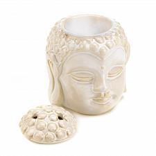 Buy *15345U - Peaceful Buddha Head Cream Ceramic Oil Warmer