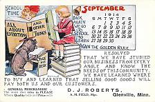 Buy 1914 Advertising with Calendar, Artist Signed Glenville, Minn Vintage Postcard 2