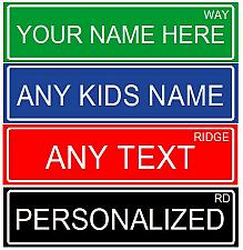 "Buy MAKE YOUR OWN PERSONALIZED ALUMINUM RUSTPROOF METAL CUSTOM STREET SIGN, 6""X24"""