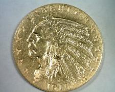 Buy 1911 2 1/2 DOLLAR INDIAN HEAD GOLD ABOUT UNCIRCULATED+ AU+ NICE ORIGINAL COIN