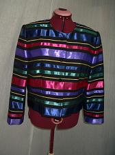 Buy C225j Talbots Satin Ribbon Striped Evening Party Dress Jacket Blazer Size 12