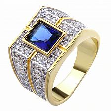 Buy Elvis Presley TCB NY GP Concert Jumpsuit Stage Men Ring Sapphire Simulat Wedding