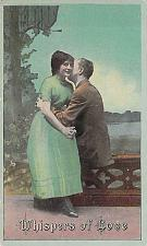 Buy Whispers of Love Couple , Vintage Romance Postcard