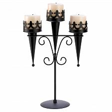 Buy 14114U - Medieval Triple Arm Pillar Candle Holder Stand