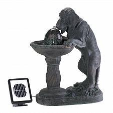 Buy 14769U - Thirsty Dog Drinking Fountain Solar Power Water Fountain Yard Art