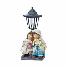 "Buy *18277U - Young Couple Beneath Street Light Garden Statue 12 3/4"" Solar Light"