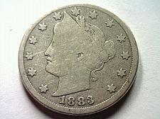 Buy 1883 LIBERTY NICKEL NO CENTS GOOD G NICE ORIGINAL COIN FROM BOBS COINS