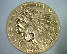 Buy 1928 2 1/2 DOLLAR INDIAN HEAD GOLD CHOICE ABOUT UNCIRCULATED++ CH. AU++ ORIGINAL