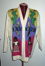 Buy Victor Camarena Mexican Mexico Folk Art Embroidered Ladies Jacket Coat L XL c99