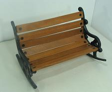 """Buy New Doll Display Rocking Bench Wood and Cast Iron 8 1/2"""" x 5 1/2"""""""