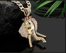 Buy Elvis Presley Crown Thai Elephant Concert TCB Gold Plated Chain Necklace Pendant