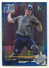 Buy 2017 BOWMAN DRAFT CHROME 70TH BLUE REFRACTOR BLAKE HUNT, BDC-145, 127/200