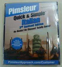 Buy Pimsleur Quick & Simple Italian 4 CD Set Totally Audio 8 Lesson 240 Min