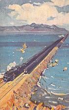 Buy Crossing Great Salt Lake, Southern Pacific Railroad Overland Vintage Postcard