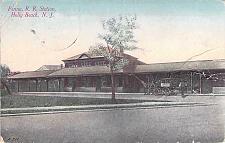 Buy Penna Railroad Station, Holly Beach NJ Vintage Used Postcard