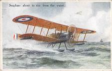 Buy British Seaplane Taking Off From The Water Vintage Postcard