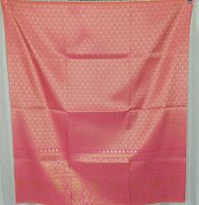 Buy Thai Tradition Pink Gold Synthetic Silk Fabric For Top Skirt Wedding dress