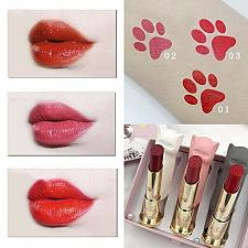 Buy Fancy 3 Pcs/set Cartoon Cat Lipstick Makeup Set Waterproof Long Lasting Lipstick