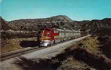 Buy Santa Fe Streamliner, Passing through San Bernadino Mountains Vintage Postcard