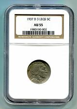 Buy 1937-D 3 LEGS BUFFALO NICKEL NGC AU 55 ORIGINAL COIN FROM BOBS COINS FAST SHIP
