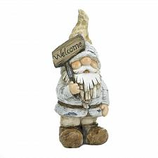 Buy *18582U - Winter Welcome Gnome Yard Art Garden Figurine Statue