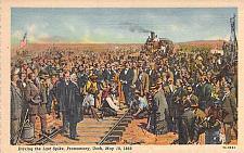Buy Driving the Last Spike, Promontory, Utah, May 10, 1869 Vintage Postcard
