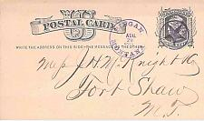 Buy 1879 Piegan Montana Territory Purple Duplex Fancy Star Cancel Postal Card
