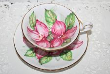 Buy Vintage Royal Stafford Large Pink Trillium Teacup & Saucer Fills the Teacup