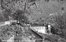 Buy Handy Dam at Entrance to Big Thompson Canyon Real Photo RPPC Vintage Postcard