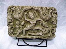 Buy CAMBODIAN ANGKOR WAT APSARAS KHMERS SAND STONE COLLECTIBLE VINTAGE WITH STAND 3