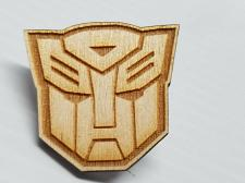 Buy Laser Engraved Transformers Autobot Wood Hat Pin