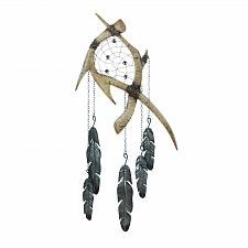 Buy *18377U - Antlers Dreamcatcher Iron Wall Decor