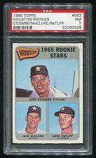 Buy 1965 TOPPS HOUSTON ROOKIES DAN COOMBS JACK McCLURE #553, PSA 7 NM (22360029)