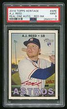 Buy 2016 TOPPS HERITAGE REAL ONE RED AUTO A.J. REED PSA 9 MINT (28453719)