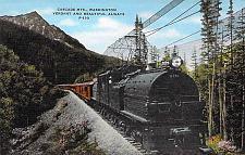 Buy Cascade Mts, Washington, Vermont and Beautiful P-130 Train Vintage Postcard