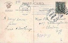 "Buy 1907 RARE American Service Mark "" Train Late Mail Delayed"" on Christmas Postcard"