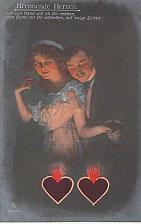 Buy Burning Heart German Color Tinted Photo RPPC Vintage Romance Postcard