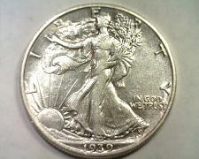 Buy 1939 WALKING LIBERTY HALF DOLLAR ABOUT UNCIRCULATED AU NICE ORIGINAL COIN
