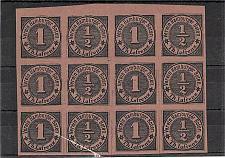 Buy Hamburg Boten-Marken Forgery Mi 1 Partial Sheet MNH, Never Hinged -#2
