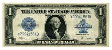Buy 1923 ONE DOLLAR LARGE SIZE SILVER CERTIFICATE SPEELMAN WHITE EXTRA FINE XF EF